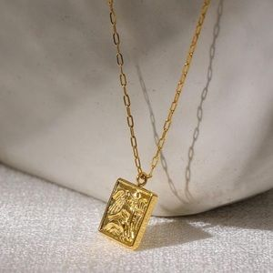 Angel square necklace